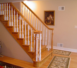 Install Classic Wood Straight Stairs In Manhattan Ny
